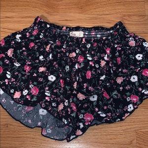 Hollister Floral Romper Bottom Shorts
